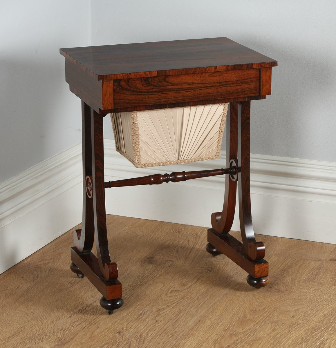 Antique Regency Rosewood Ladies Sewing Worktable (Circa 1820)