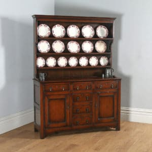Antique Welsh Georgian Pine Dresser Base & Rack Sideboard Cupboard (Circa 1780) - yolagray.com