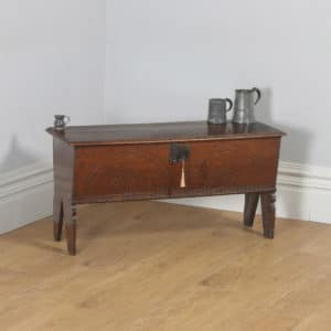 Antique Charles I English West Country Oak Six Plank Boarded Sword Chest Coffer (Circa 1650)- yolagray.com