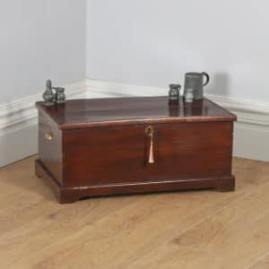 Antique English Georgian Elm & Oak Trunk Blanket Box Chest Ottoman (Circa 1780) - yolagray.com
