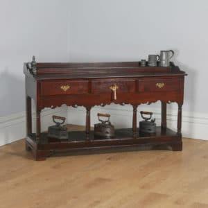 Antique Welsh Georgian Oak Potboard Low Dresser Base Sideboard (Circa 1800)- yolagray.com