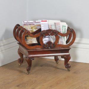 Antique English William IV Rosewood Canterbury Magazine / News Paper / Music Rack / Stand / Tidy (Circa 1835)- yolagray.com