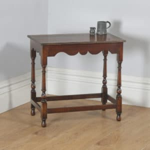 Antique English Georgian Style Oak Country Side Hall Table (Circa 1860)- yolagray.com