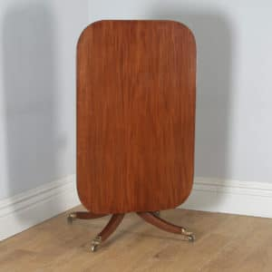 Antique English Georgian Regency Mahogany Tilt Top Rectangular Breakfast Dinging Table (Circa 1830)- yolagray.com