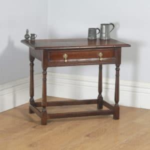 Antique English 19th Century George III Oak Occasional Side Hall Writing Table (Circa 1820) - yolagray.com