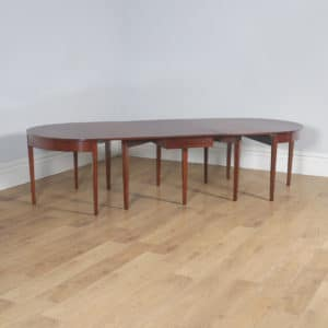 Antique English Georgian Mahogany Round Extendable Ten Seat D End & Drop Leaf Dining Table (Circa 1800) - yolagray.com